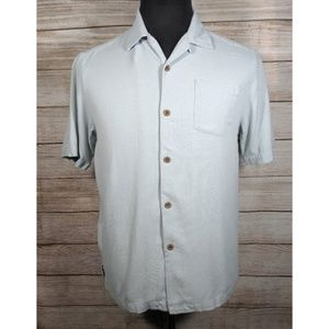 Tommy Bahama Blue Silk Button Camp Casual Shirt